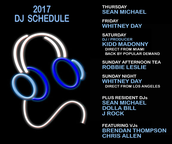 Southern Decadence DJ Schedule for 2017